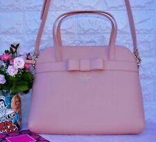 Kate Spade Kirk Park Julita Saffiano Leather Bag Satchel Pink Warmvellum Bow