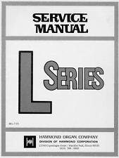 Hammond série L manuel de service organe L-100 sur cd-r