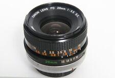 Canon FD 28mm f3.5 SC Lens S.C. - Breech Mount