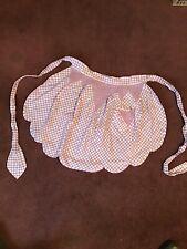 New listing Vintage Lavender And White Gingham Smocked Apron