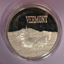 FRANKLIN MINT  STERLING SILVER STATE VERMONT FREE SHIP