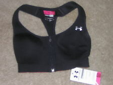 Women's Under Armour Bra Top Size 30C Black NEW/NWT
