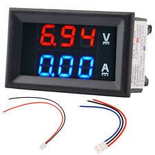 DC 0~100V 10A Voltmeter Ammeter LED Amp Volt Meter Gauge Voltage Current  XG