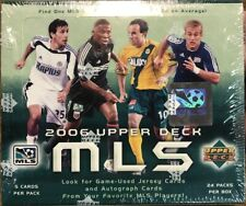 2006 Caja de fútbol MLS UD UPPER DECK sellado de fábrica -24 paquetes difícil de encontrar!