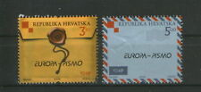 Croatia 2008 Europa Letter Writing Unique Unusual Embossed Varnished Stamps 2v