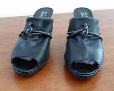 Leather Medium Width (B, M) Mule Casual Heels for Women