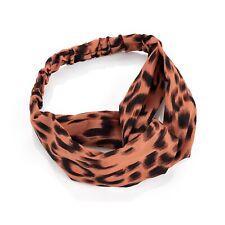 Pink Leopard Print Stretchy Head Wrap Headband Ladies Fashion Hair Accessories