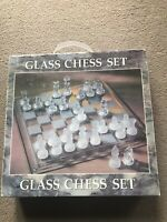 With Original Box 32 Piece Glass Chess Set