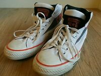 Converse All Star High Tops Trainers UK 8 EU 41.5 CM 26.5 Hi White Unisex Used