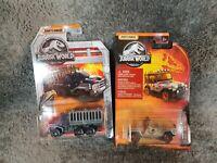 X2 Matchboc Jurassic World - '93 JEEP WRANGLER #12 & Armoured Action Transport