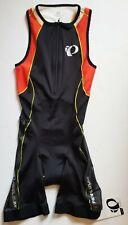 PEARL IZUMI mens ELITE IN-R-COOL black/mandarin triathlon TRI SUIT 13111301 sz S