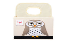 New listing 3 Sprouts Baby Diaper Caddy - Organizer Basket for Nursery, Owl