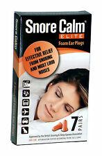 Snore Calm ELITE Foam Ear Plugs (7 Pairs) 37db Noise Reduction Rating