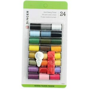 Singer Hand Sewing Hand Sewing Thread, Assorted Colors, 24 Ct