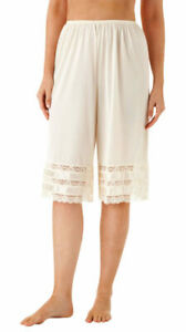 "Velrose Nylon 28"" Adjustable Culottes With 3 Layer Lace(3498)"