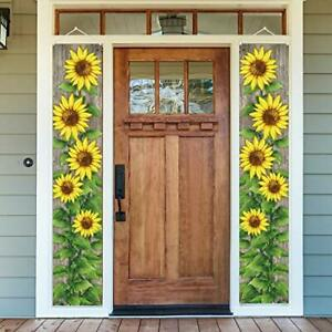 Sunflower Decor Sunflower Porch Sign Banners Home Decor for Outside Yard Door