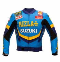 Rizla Suzuki Motorcycle Leather Jacket Sports Motorbike Leather Jackets
