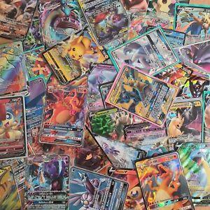 50 Pokemon Karten Sammlung *SELTENE GX/V KARTE GARANTIERT* - Deutsch & Mint