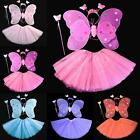 Kids Cute Angel Fairy Butterfly Wings Girls Halloween Fancy Dress Party Outfits