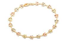Color Butterfly Crystal Baguette Anklet Sevil 18K Gold Plated Light Multi