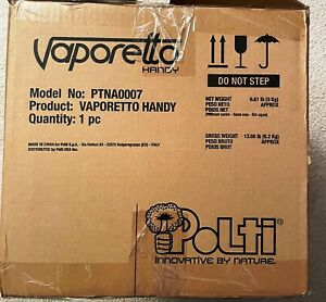 Polti Vaporetto Handy Portable Steamer Steam Cleaner   BRAND NEW