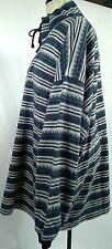 Denim Express womens 1/4 zip pullover acrylic sweater blue tribal stripe size 2X