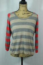 C & C California Striped Pullover Sweater Size Large Soft Wool Cashmere Blend