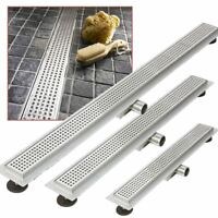 "Easy Clean ""Rectangular"" Stainless Steel Wetroom Shower Drains 300mm to 2000mm"