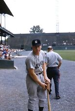 Mickey Mantle 1961 Original Photo Color Negative 35MM Yankees Candid Portrait