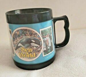 1979 Sea World Termo-Serv Plastic Mug RARE Orca Shamu Retro Vintage