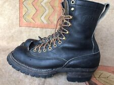 Men's Whites Boots Black Leather Logger Smoke Jumper Work Size 9.5 B