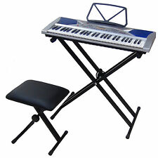54 Keys LCD Teaching Keyboard DynaSun MK2054 with Stand Support and Piano Bench