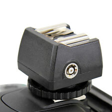 Adaptateur Sabot Griffe Hot-Shoe PC Sync + Port 3.5mm pour DSLR Studio Flash