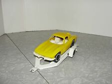 VIntage Tonka 1960's Split Window Chevrolet Corvette with Trailer