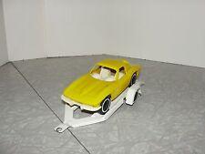 VIntage Tonka 1960's Split Window Chevrolet Corvette with Trailer