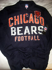 CHICAGO BEARS NFL SOFT COTTON LOGO BEAR PATCH MUSCLE HENLEY JERSEY SHIRT-NWT- M