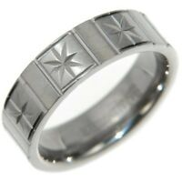 TITANIUM *STAR WEDDING RING BAND COMFORT FIT size #8,9,10,11,12