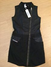 Diesel Black Biker Dress Girls Size S Age 10-12 Bnwt