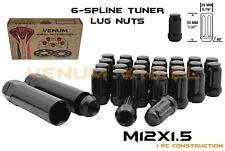 20pc M2x1.5 Black Spline Lug Nut Kit Fits Toyota Corolla Prius Sienna Highlander