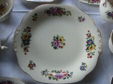 Vintage early 20th C Wedgwood & Co floral cake plate