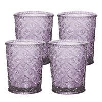 Cameo Double Old Fashioned Glass, Tumbler, cap7.5 oz, Purple, set of 4