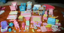 BIG LOT OF SMALL DOLL BABY FURNITURE