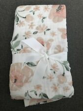 Pottery Barn Kids Meredith Muslin Changing Pad Cover - Blush Floral - Nwot