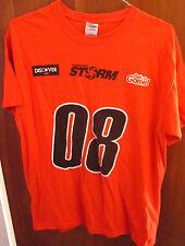 TAMPA BAY STORM lrg T shirt 2008 arena football AFL tee Pittsburgh Gladiators FL
