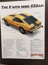 1977 Datsun 280-Z Print Ad - Special Decor Package