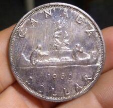 1960 S$1 Canada Silver Dollar, canoe 80%