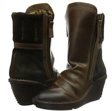 NIB FLY London SIMI Dark Brown Expresso Boots Womens EU 37  US 6.5 - 7
