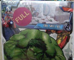 Marvel Avengers Assemble Full Sheet Set NIP