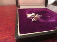 Hübscher 925 Silber Ring Delphin Fisch Ozean Meer Filigran Modern Klassiker