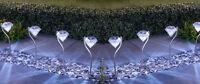 8x Modern Stainless Steel Solar Power Diamond Stake Lights Garden Border Lights